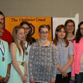 Area youth advance to District Optimist Oratorical Contest